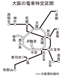大阪 電車 区間