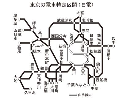 東京 電車 区間 E電