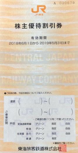 JR東海 株主優待券