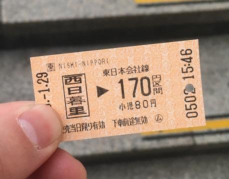 乗車券 普通のきっぷ