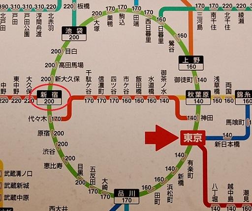 東京駅 運賃表